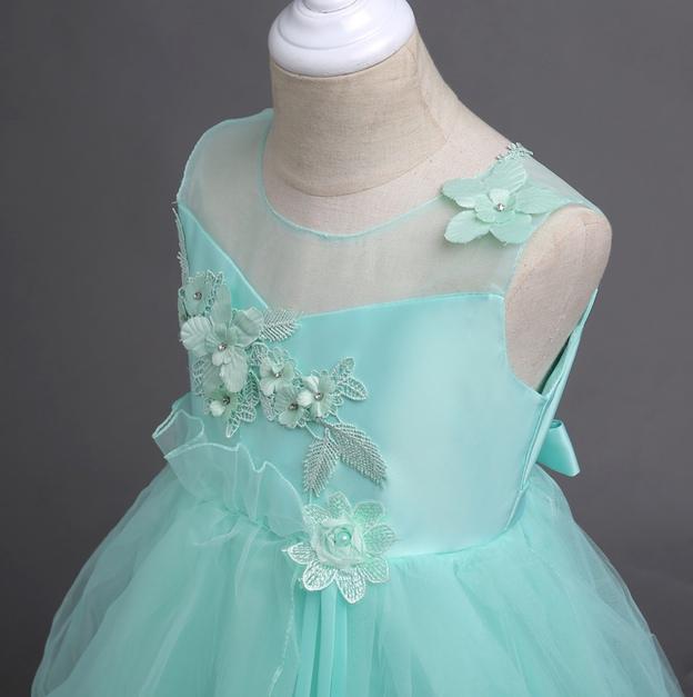 Vestiti Verde Tiffany Bambina.Vestito Bambina Cerimonia Comunione Feste Cdr078