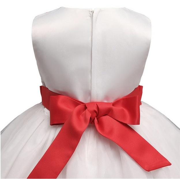 Vestito Bambina Abito Cerimonia Compleanno Girl Summer Flower Dress DGZF003B